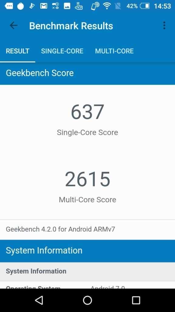 AQUOS EVER GeekBench2
