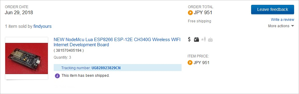NEW NodeMcu Lua ESP8266 ESP-12E CH340G Wireless WIFI Internet Development Board