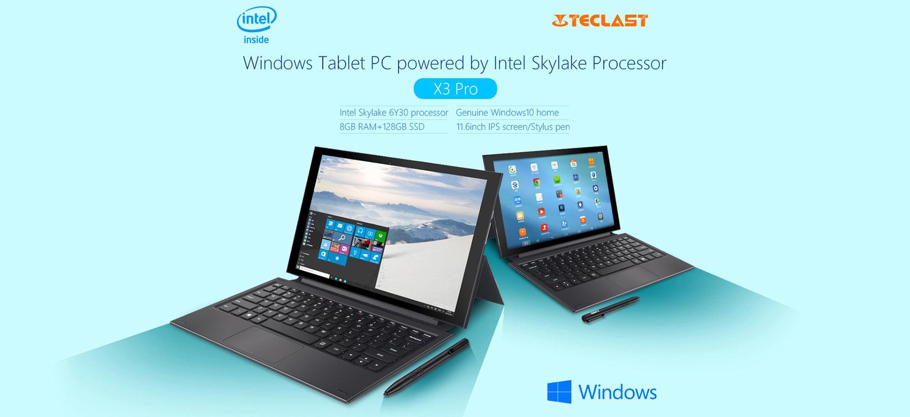【Intel Core M3-6Y30】11.6インチ中華タブレット Teclast X3 Pro 8G/128GB 開封の儀 レビュー