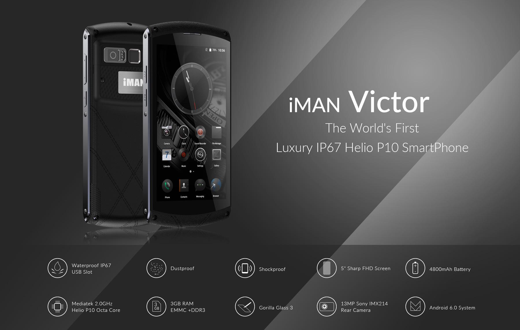 【IP67防水 SIMフリー 中華スマホ】IMAN Victor 3G/32GB 開封の儀 レビュー Everbuying