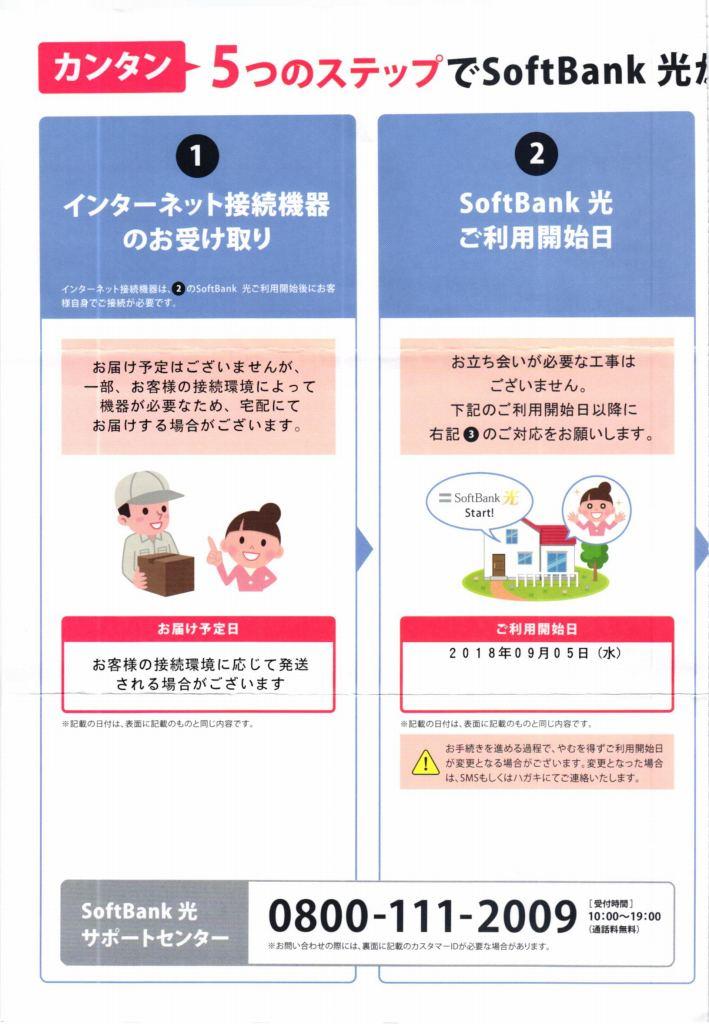 SoftBank光 サービスご利用の流れ3