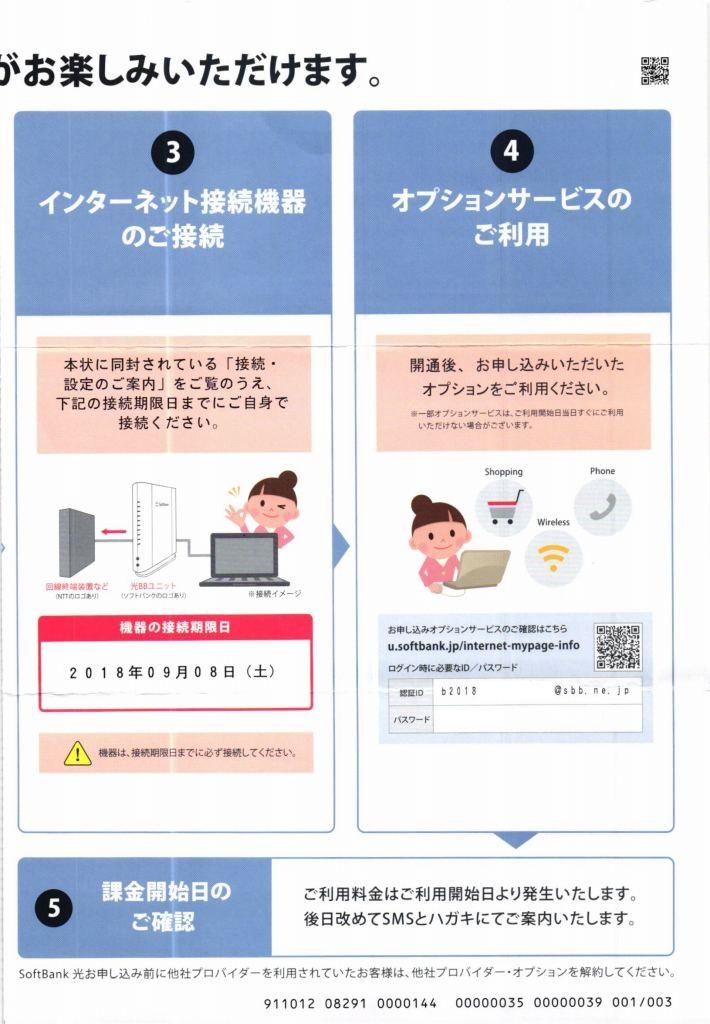 SoftBank光 サービスご利用の流れ4