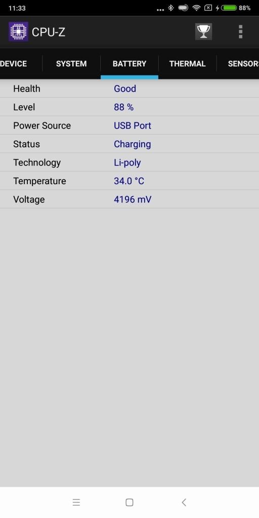 Xiaomi Mi Max 3 CPU-Z 4