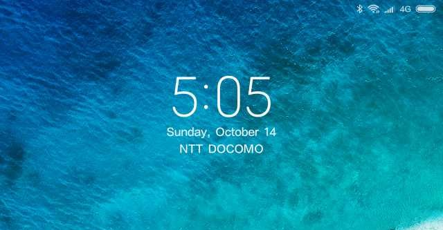 Xiaomi Mi Pad 4 Plus ロック画面