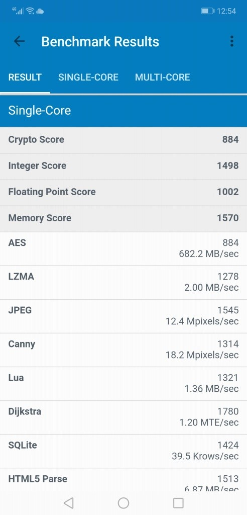 Huawei Honor 8X Max Geekbench2