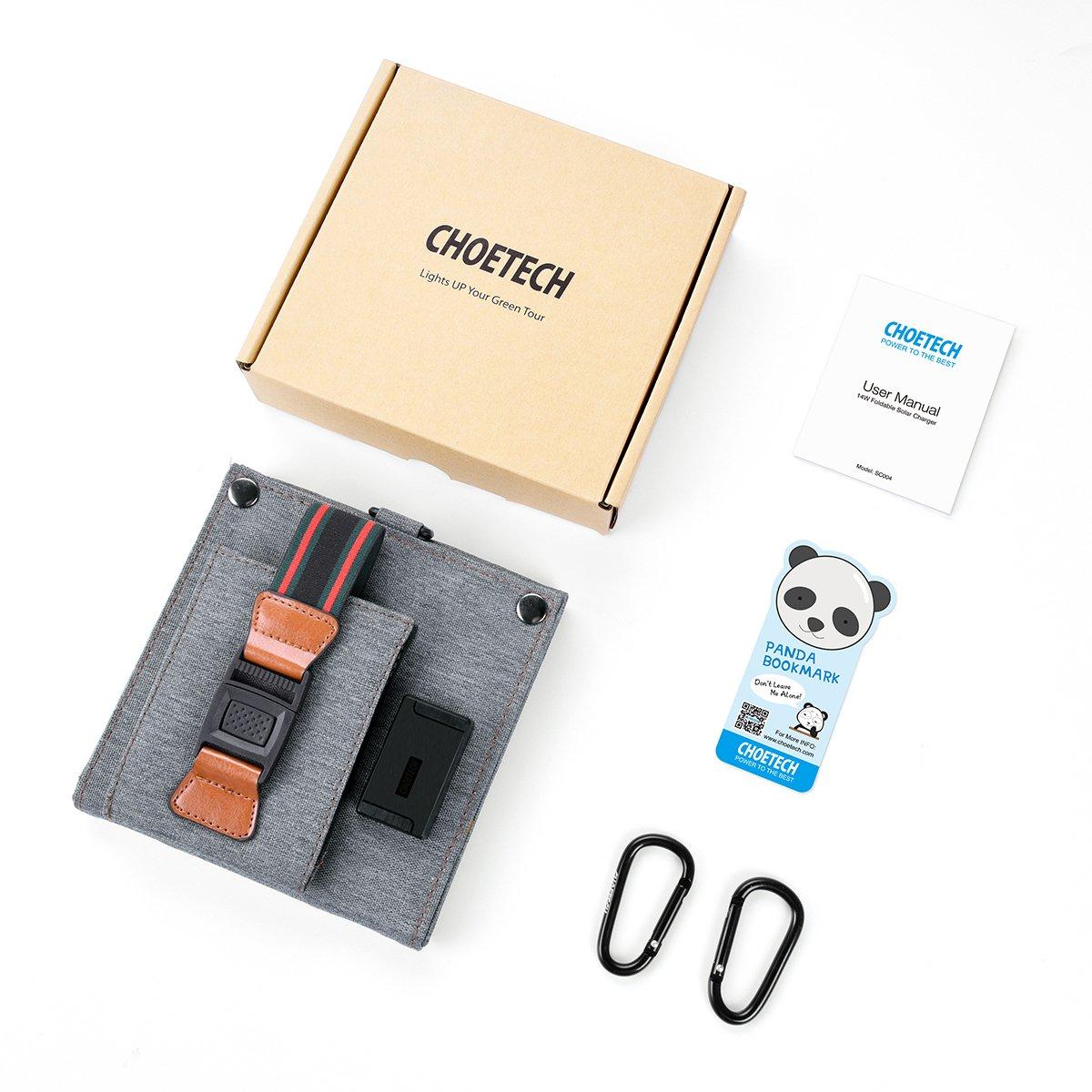 2018-USBソーラー CHOETECH ソーラーチャージャー 1