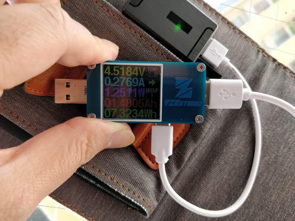 USBソーラー CHOETECH ソーラーチャージャー 計測