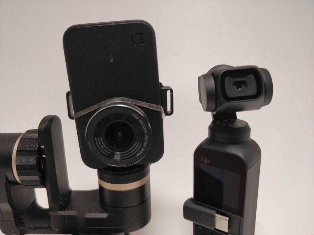 DJI Osmo Pocket Vs Feiyu Tech WG2+Xiaomi Mini Camera ジンバル比較3