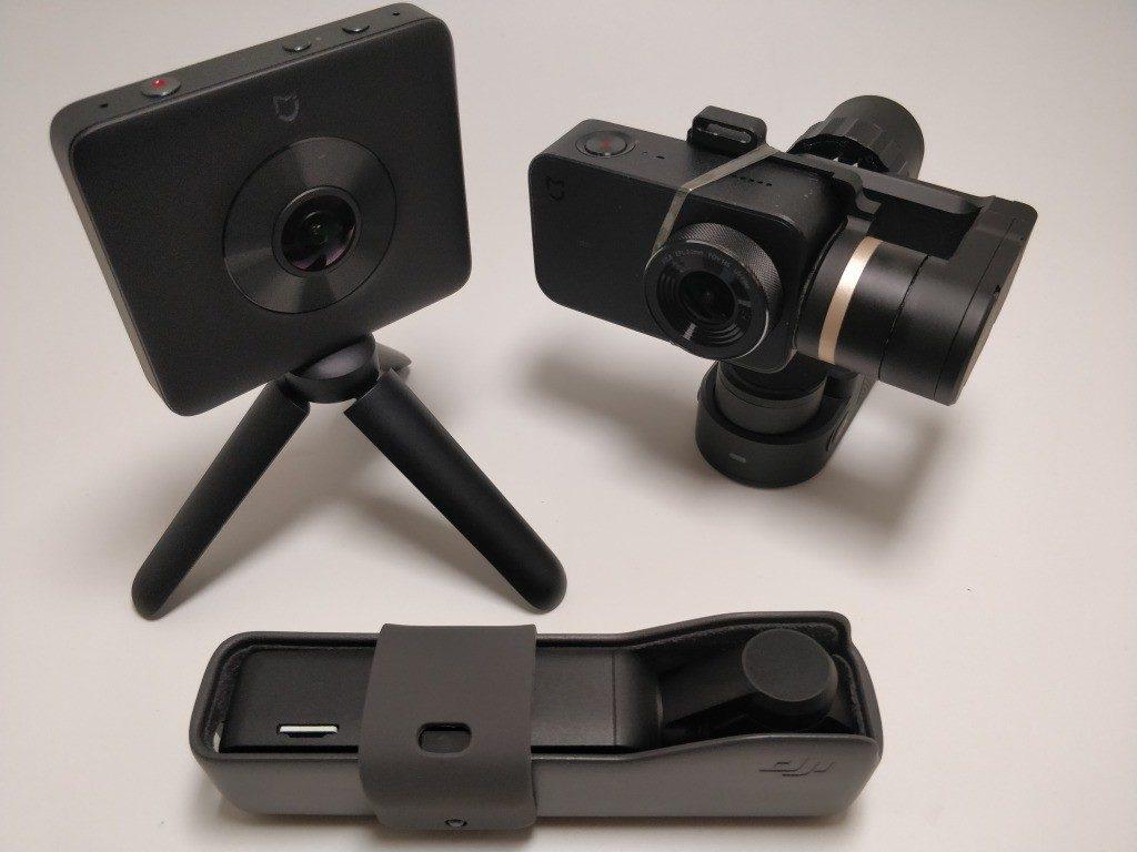 DJI Osmo Pocket Vs Feiyu Tech WG2+Xiaomi Mini Camera ジンバル比較5