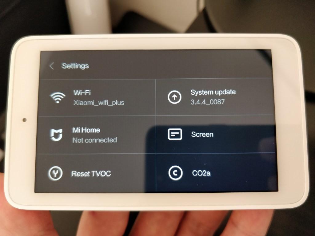 Xiaomi Mijia 空気質モニター 設定