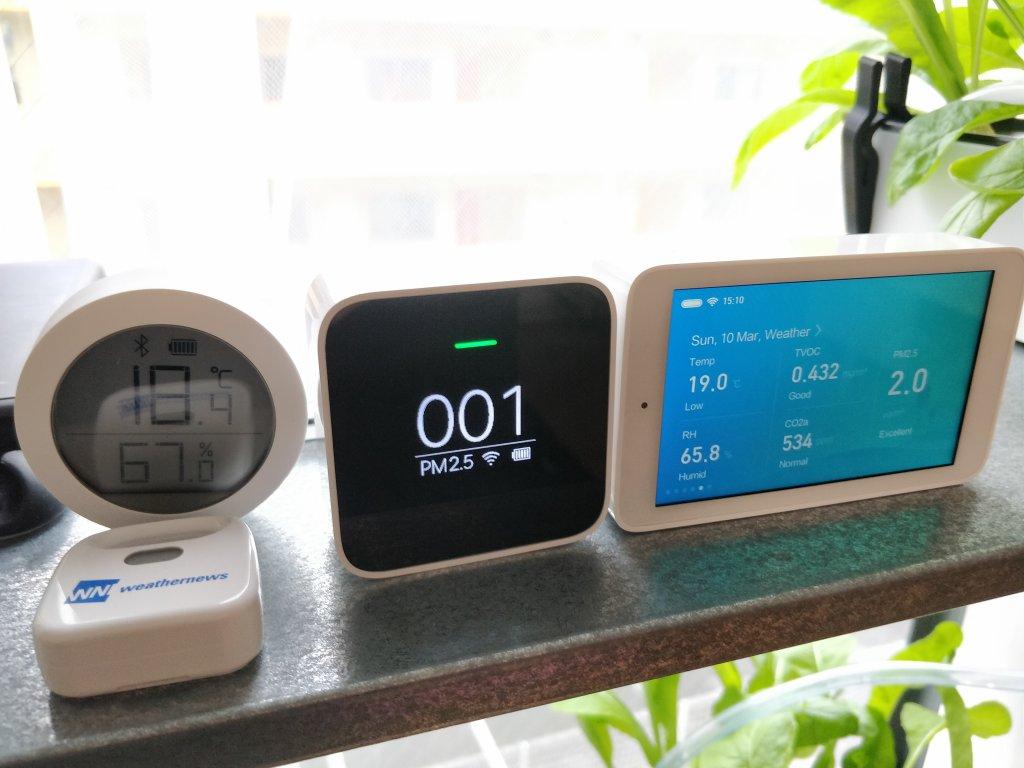 Xiaomi Mijia 空気質モニター 並べる
