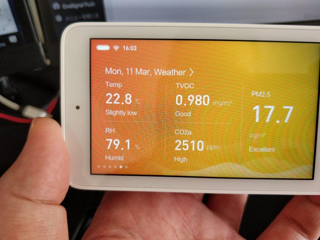 Xiaomi Mijia 空気質モニター 二酸化炭素