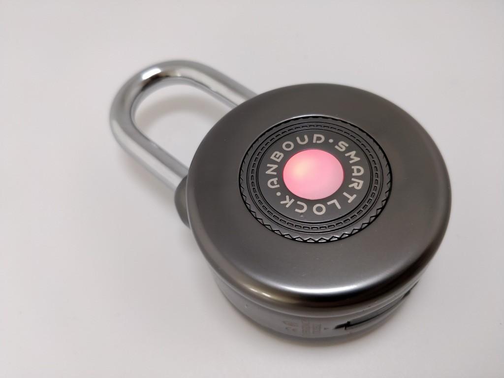 Bluetooth Smart Lock Anti Theft Alarm Lock バッテリー点灯 赤