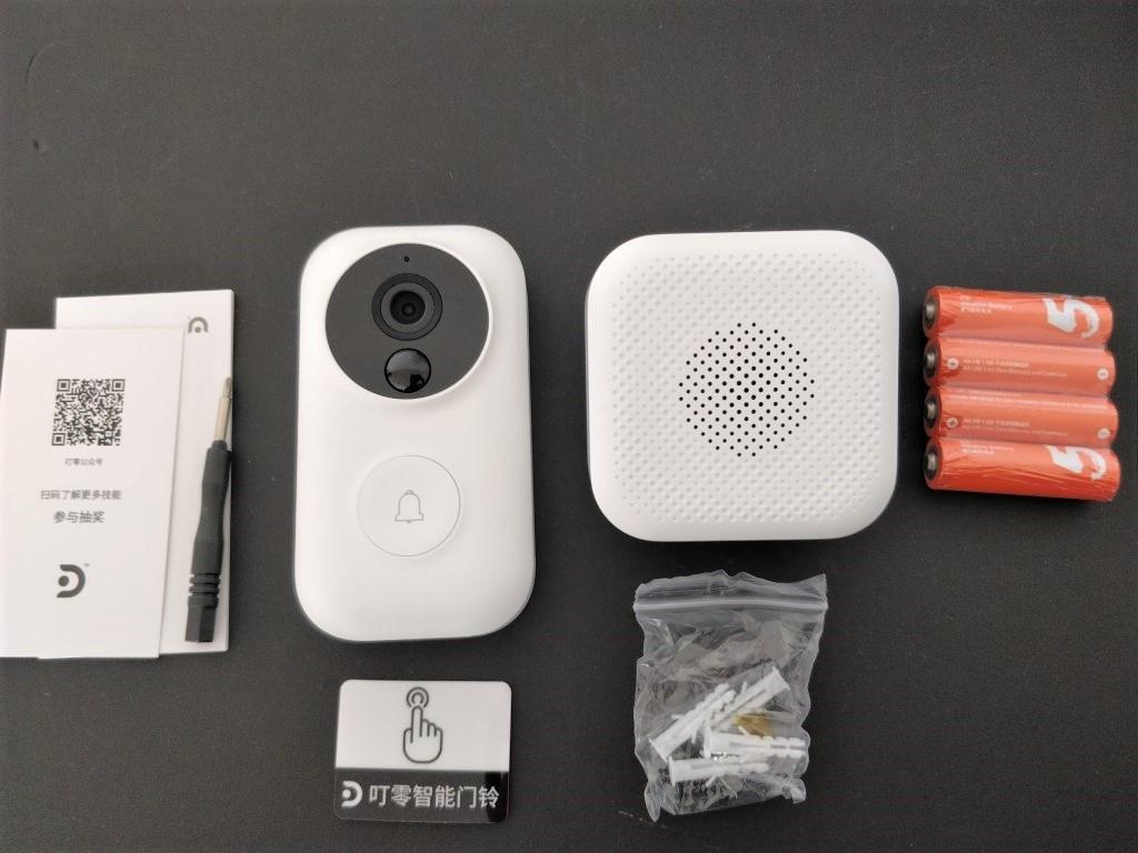 Xiaomi 電池駆動ナイトビジョンカメラ ドアベル セット