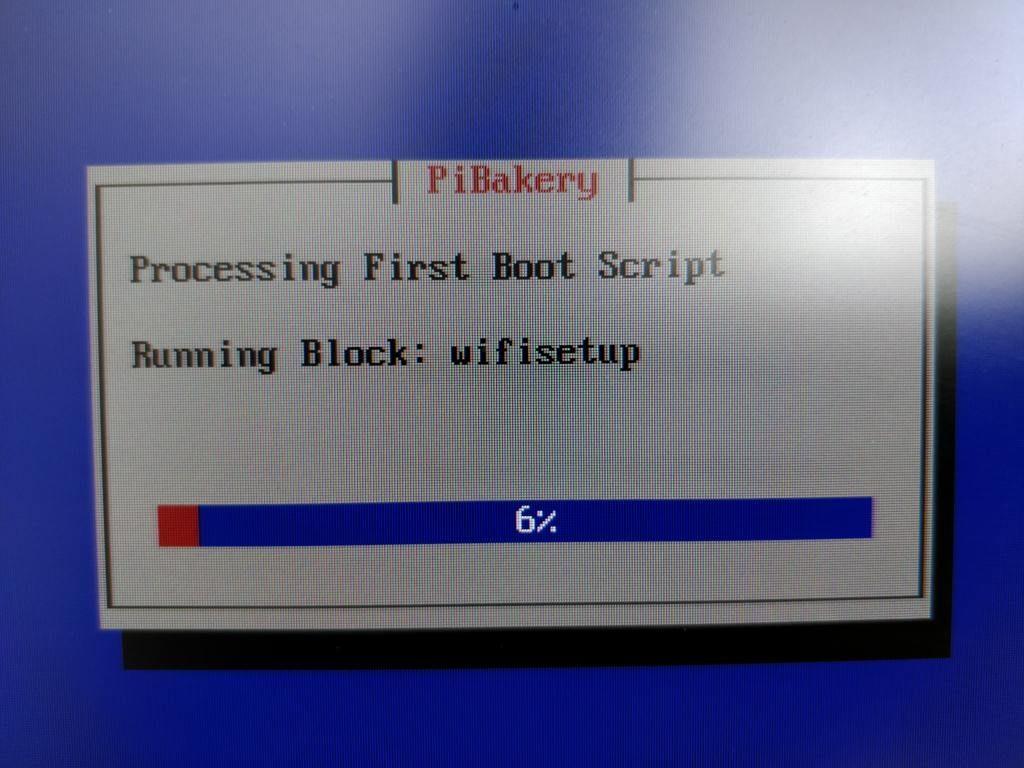 PiBakery 初回起動