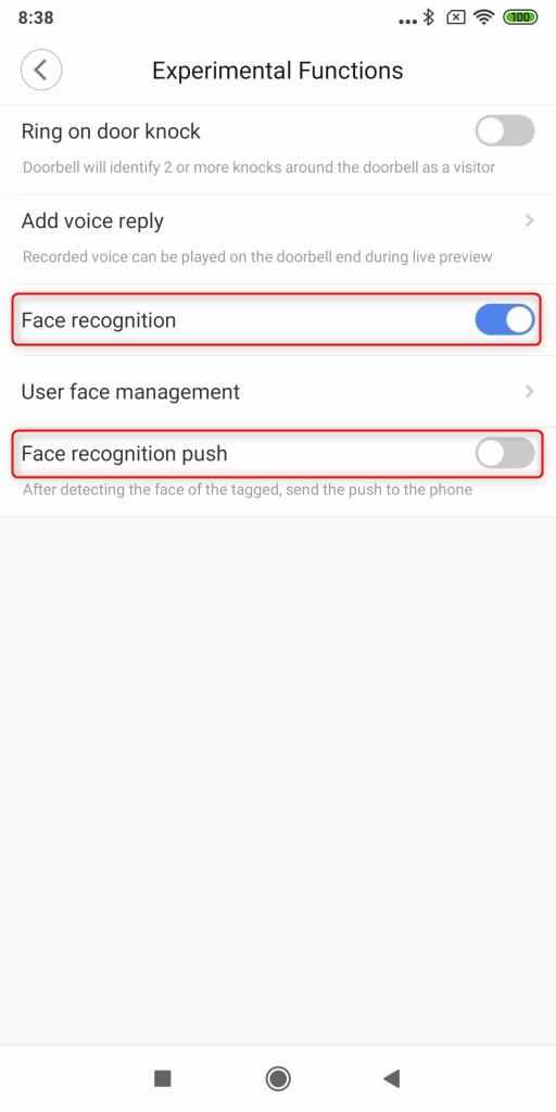 Xiaomi 電池駆動ナイトビジョンカメラ ドアベル 顔