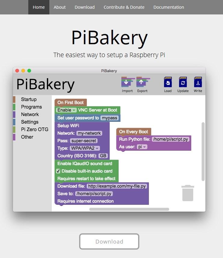 PiBakery サイト