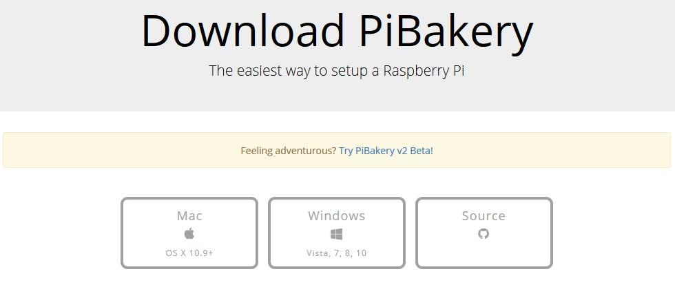 PiBakery サイト ダウンロード