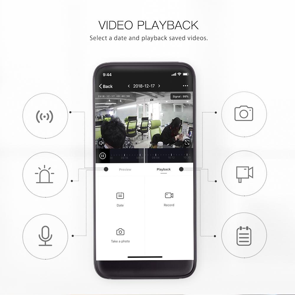 Xiaomi 電池駆動ナイトビジョンカメラ ドアベル アプリ
