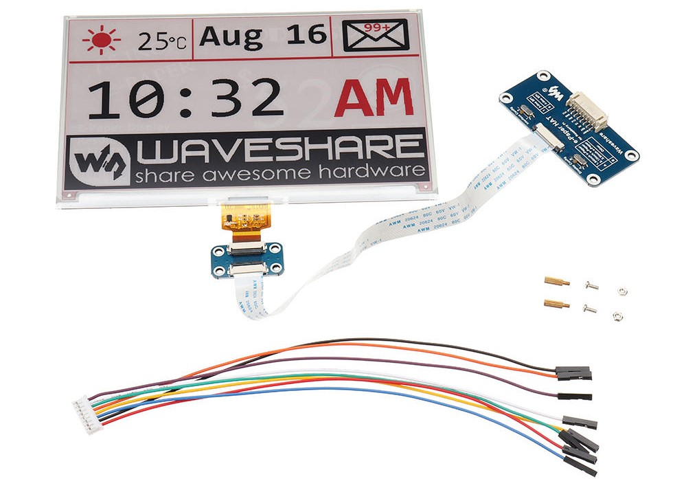 Waveshare® 7.5 Inch E-ink Screen Module e-Paper Display