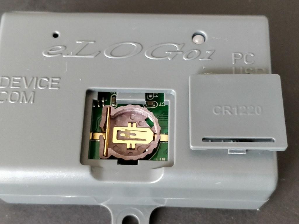 eLOG01接続 電池