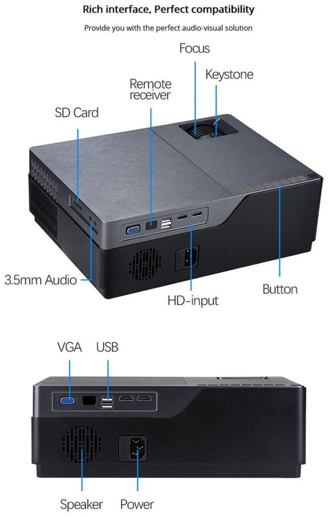 AUN M18 プロジェクター USB