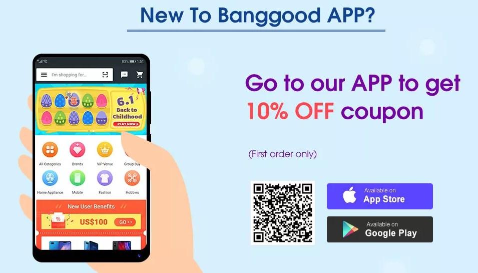 Banggoodアプリ 10%割引クーポン
