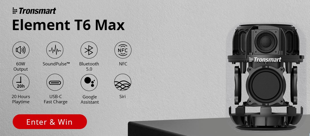 10% off for the selected Tronsmart products on the Tronsmart T6 Max Activity Page