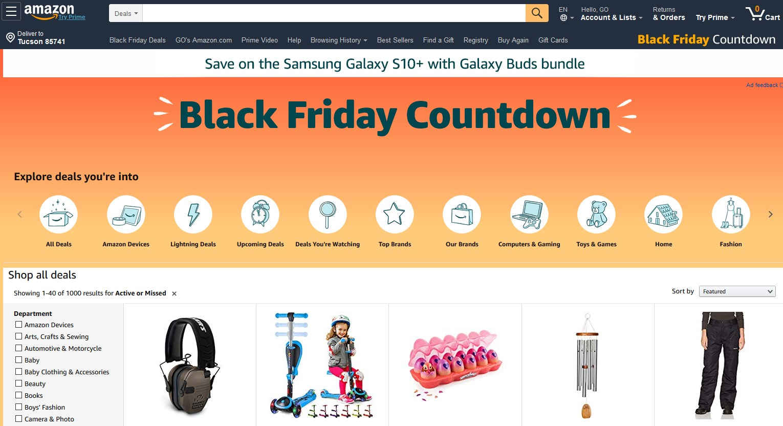 Amazon.com ブラックフライデー