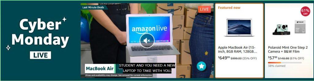 Amazon.comサイバーマンデー