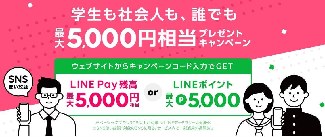 誰でも最大5,000円相当プレゼント キャンペーン