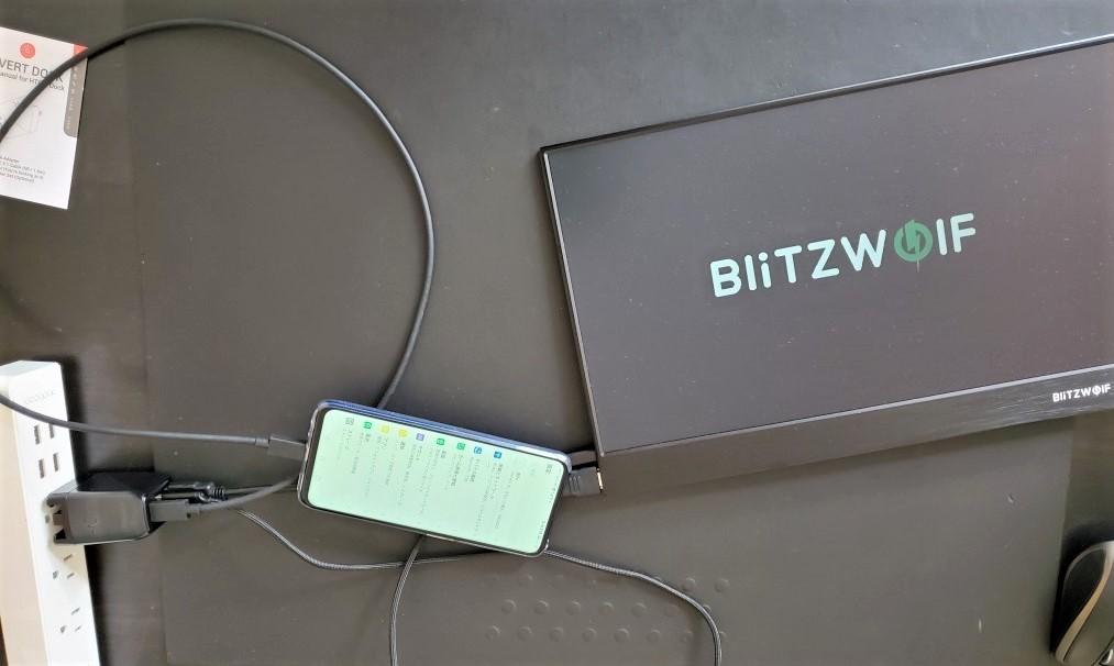 BliTZWolf モバイルモニタはGENKIドックで表示されるか?