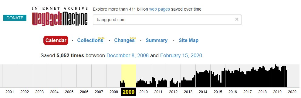 Banggood 2009年頃 開始