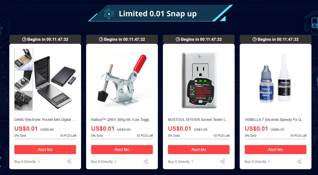 Banggood 電子工具 72時間セール