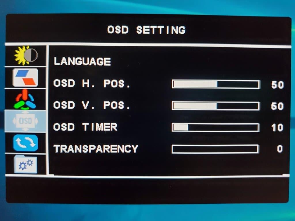 OSD設定