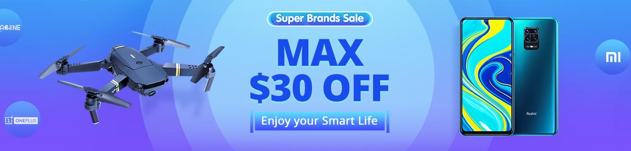 Banggood Super Brands Sale Max30%オフ
