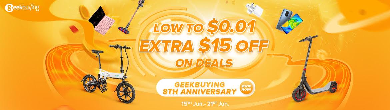 GeekBuying 8周年記念セール