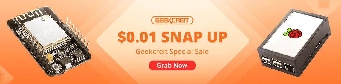 GEEKCREIT 0.01ドル SNAP UP