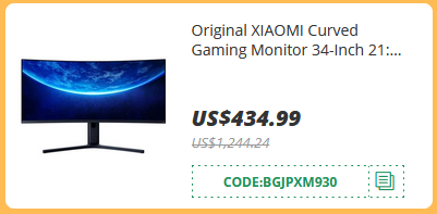 XIAOMI Curved Gaming Monitor 34-Inch