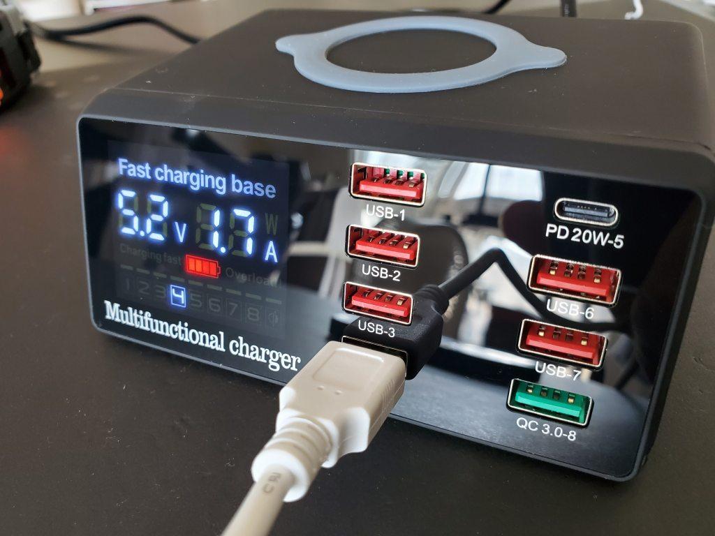 USB PD充電器 Bakeey 100W 8-Port 開封